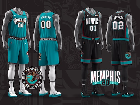 Memphis Grizzlies celebrate history of the franchise with two classic uniforms and a newly-designed alternate court