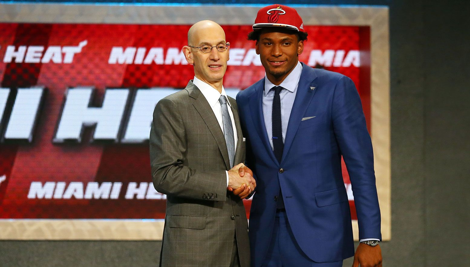 Justise Winslow and Adam Silver