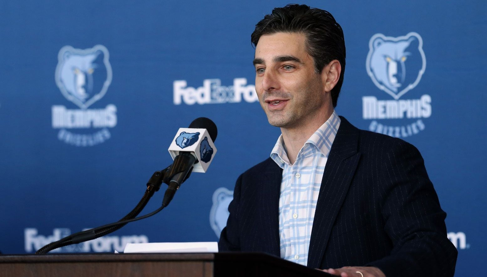 Jason Wexler speaking during a press conference