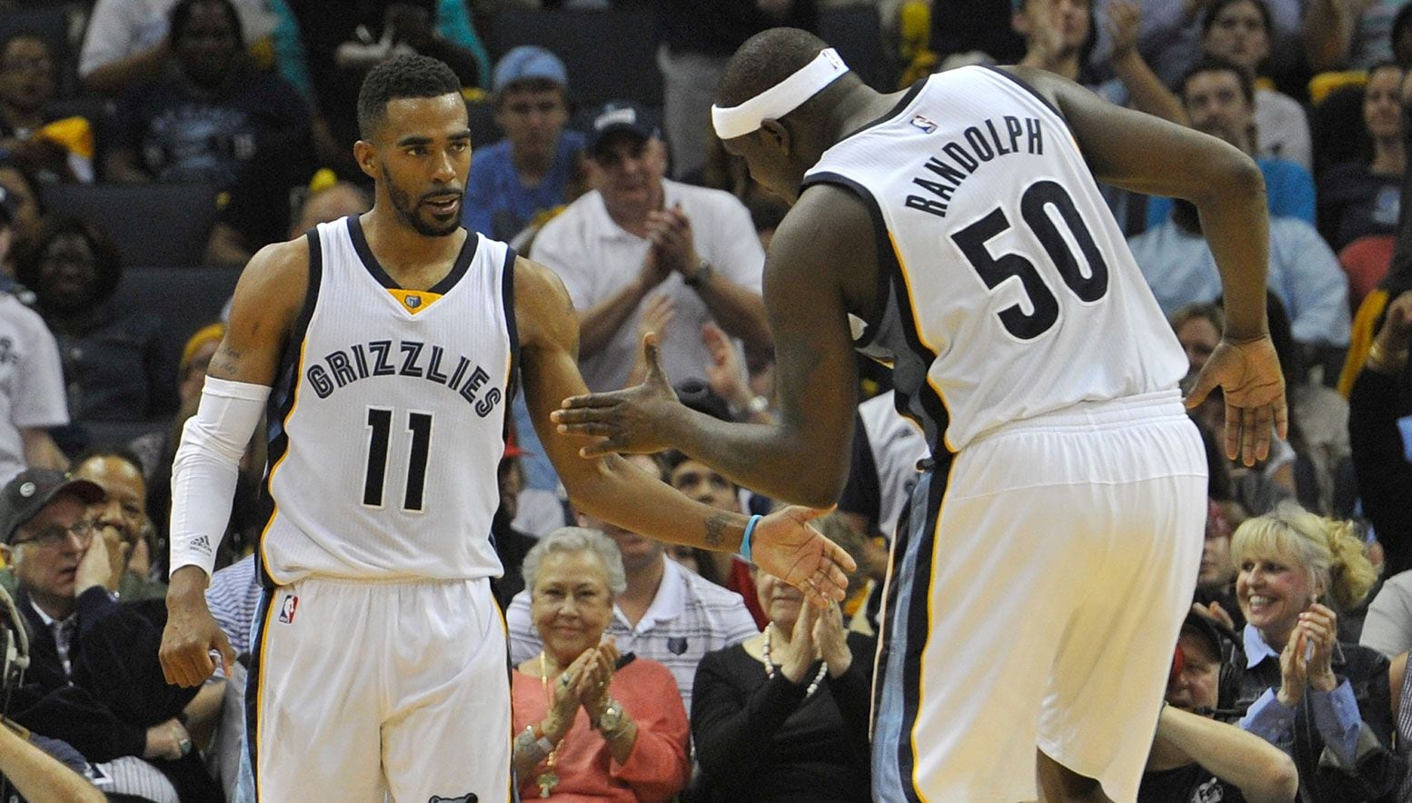 Mike Conley and Zack Randolph high five
