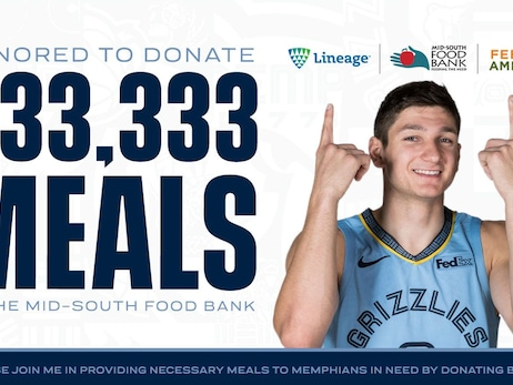 Grayson Allen Goes Beyond The Arc And Helps Provide 333,333 Meals In Memphis