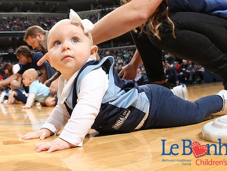 Grizzlies to hold annual Le Bonheur Infie 500 Diaper Derby on Sunday, November 26 vs. Brooklyn