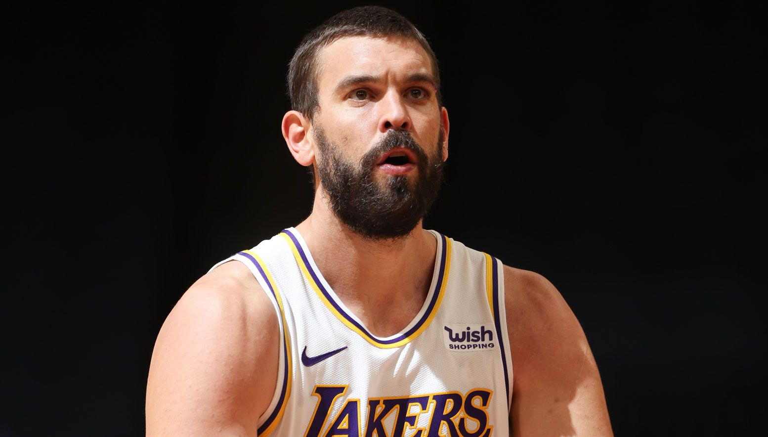Marc Gasol playing for the Lakers