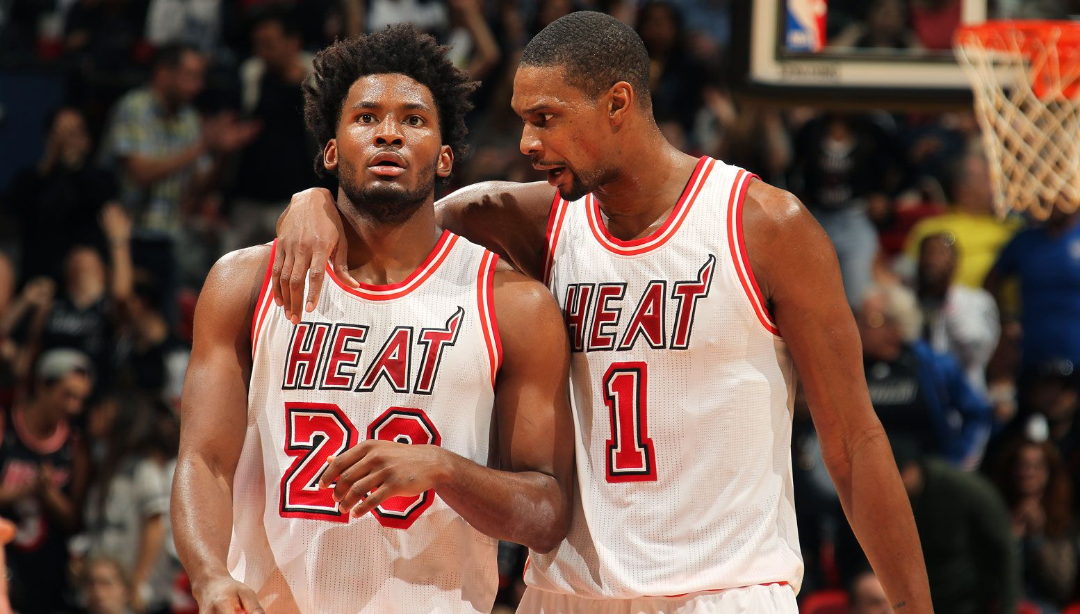 Justise Winslow and Chris Bosh