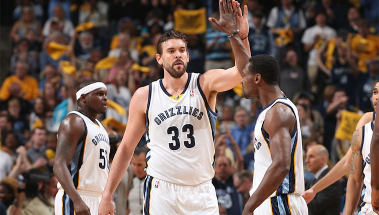 Marc Gasol, Zach Randolph and Tony Allen