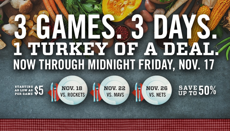 Grizzlies announce Thanksgiving ticket promotion