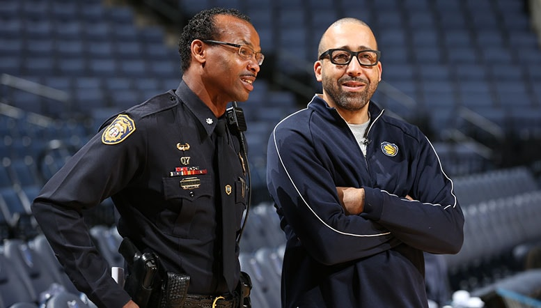 Coach Fizdale  his coaching staff to host Grizzlies Police Basketball League clinic at FedExForum