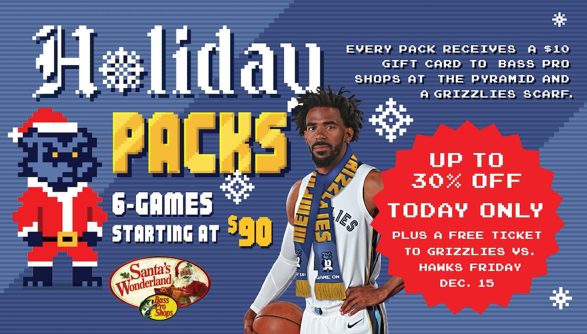 reputable site 06323 7328b Grizzlies 6-Game Holiday Packs | Memphis Grizzlies