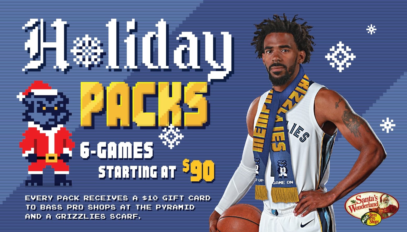 Grizzlies announce 6-Game Holiday Pack  Cyber Monday ticket promotions