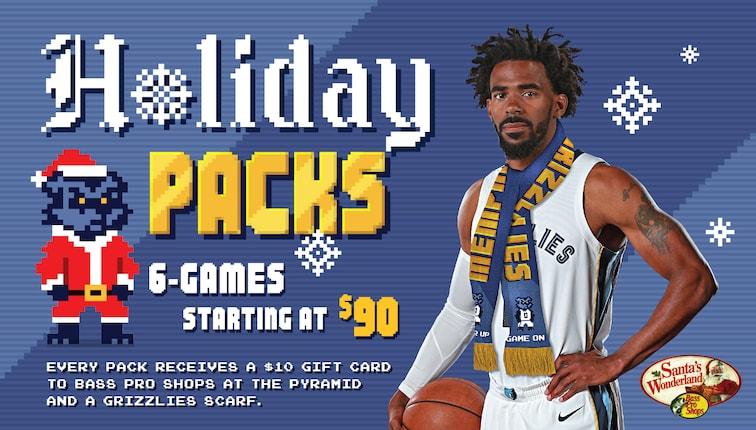 watch f3e22 2dadf Grizzlies announce 6-Game Holiday Pack & Cyber Monday ticket ...