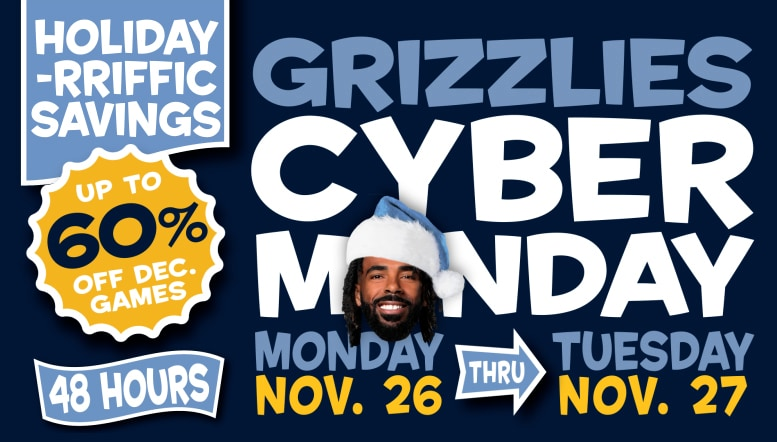 Memphis Grizzlies announce 6-Game Holiday Pack  Cyber Monday ticket promotions