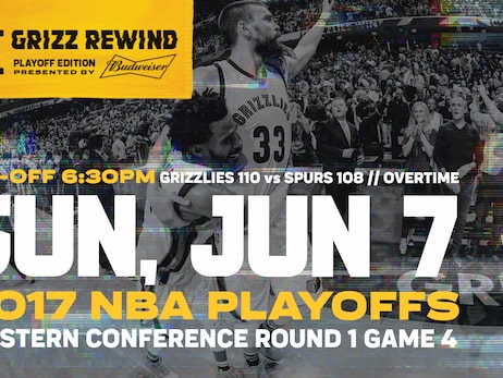 "Memphis Grizzlies and FOX Sports Southeast continue ""Grizz Rewind: Playoff Edition"" presented by Budweiser"