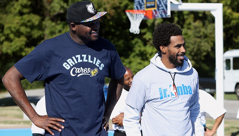 Mike Conley  Zach Randolph named as finalists for the 2016-17 Season-Long NBA Cares Community Assist Award