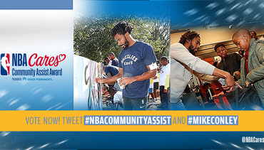 Mike Conley named as finalist for the 2017-18 Season-Long NBA Cares Community Assist Award