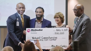 VIDEO: Mike Conley donates $500,000 to Methodist Sickle Cell Center