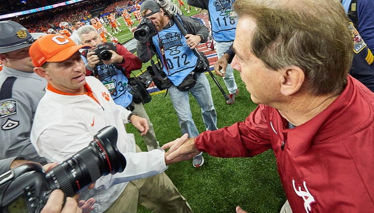 Saban, Swinney don't care if you're sick of Alabama-Clemson games