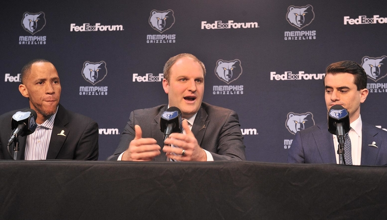 Taylor Jenkins is introduced as the Memphis Grizzlies' new head coach during a press conference at FedExForum on June 12, 2019 at FedEx Forum in Memphis, Tennessee.