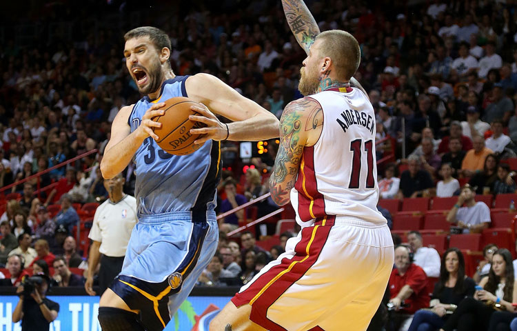 Grizzlies at Heat 12/27/14