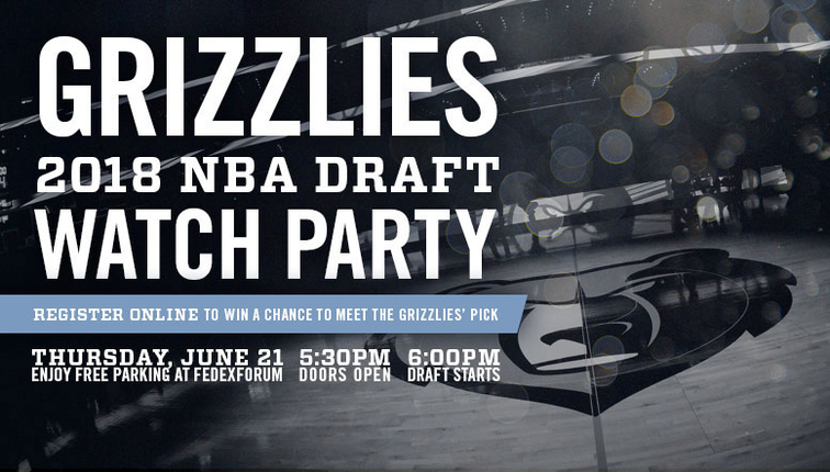 Memphis Grizzlies To Host 2018 Nba Draft Party At Fedexforum On