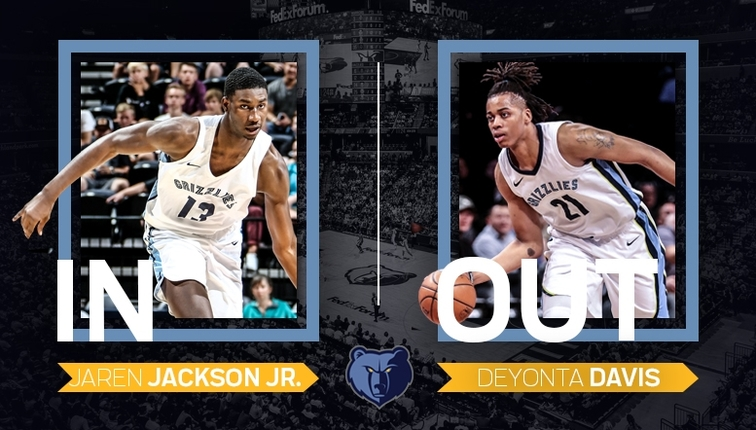 MikeCheck: Jaren Jackson Jr in, Deyonta Davis out