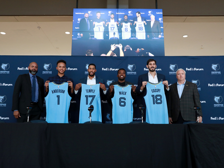 2018 Grizzlies Offseason Acquisitions Press Conference Photos