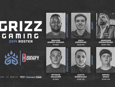 Grizz Gaming 2019 Roster NBA 2K League