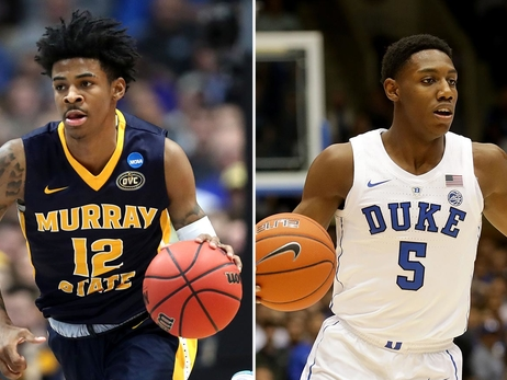 Ja Morant and R.J. Barrett seen in side-to-side comparison