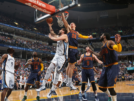 Grizzlies at Cavaliers 3/25/15
