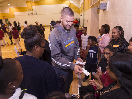 Chandler Parsons Surprise Ticket and Dinner Giveaway Photos