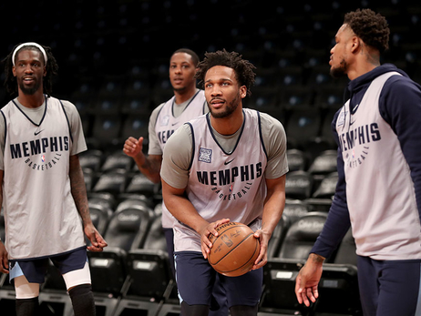 Grizzlies shootaround in Brooklyn 3.19.18