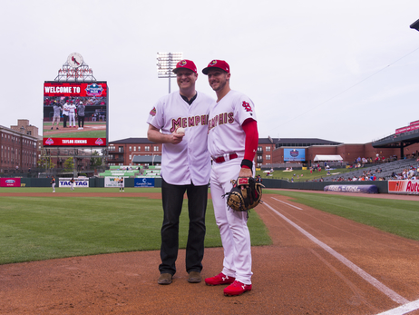 Taylor Jenkins ceremonial first pitch photos