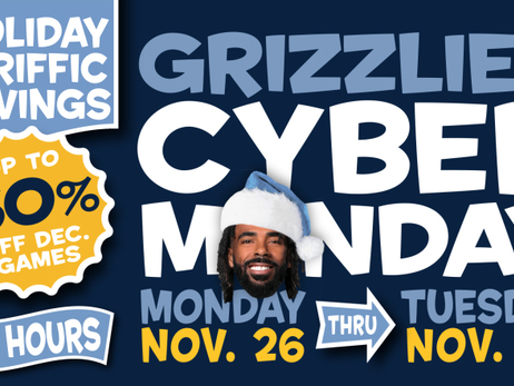 Memphis Grizzlies announce 6-Game Holiday Pack & Cyber Monday ticket promotions