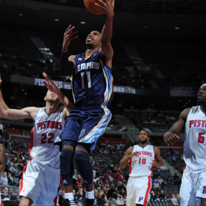 Grizzlies at Pistons - Jan. 20, 2012