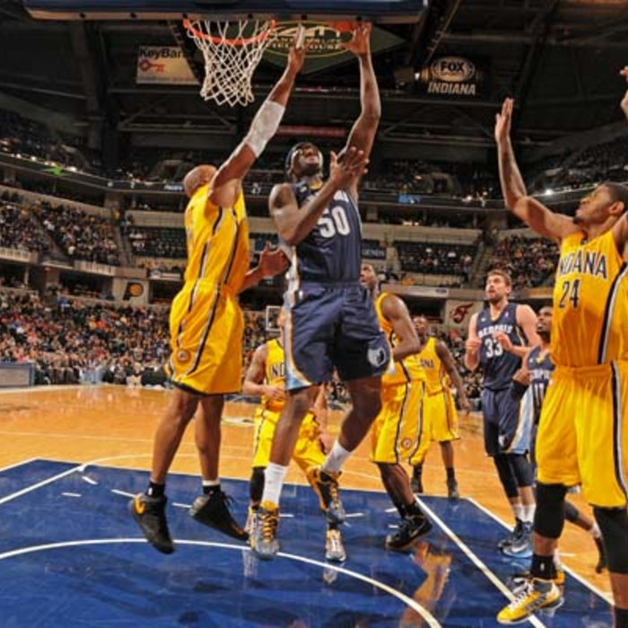 Grizzlies at Pacers - 12/31/12