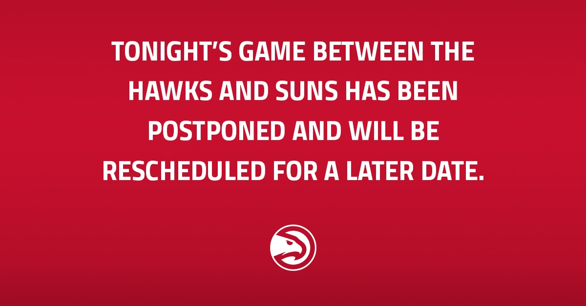Suns-Hawks game postponed due to COVID protocols in Phoenix
