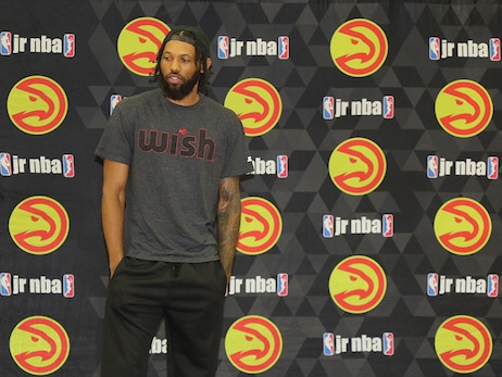 DeAndre' Bembry Hangs Out At Jr. Hawks Camp