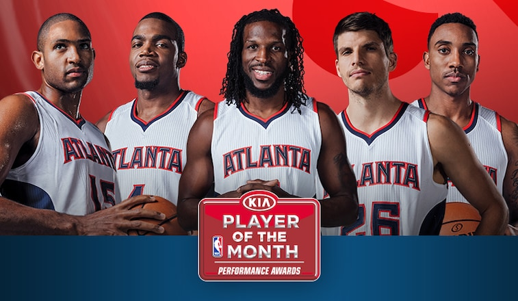 Hawks Starting Five Share Kia Eastern Conference Player Of The Month Honors Atlanta Hawks