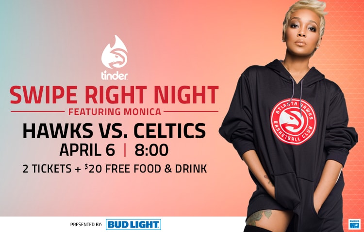 Monica To Join Hawks For Latest Swipe Right Night