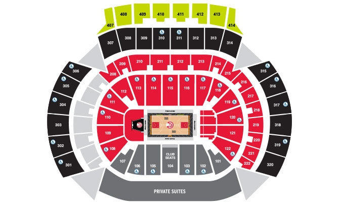 Seating map philips arena