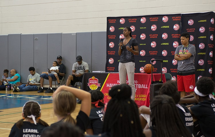 Lady Ballers Take Court For First Time This Season | Atlanta Hawks