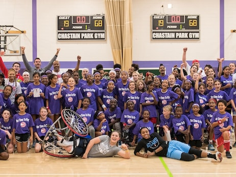 More Than 60 Girls Participate in Hawks' Second Annual Her Time to Play Basketball Clinic
