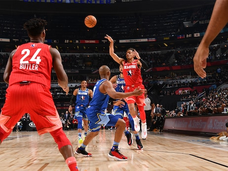 Trae Young Notches Double-Double in All-Star Game Debut