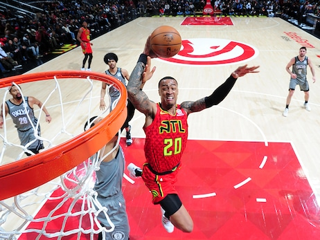 Hawks Defeat Nets At Home