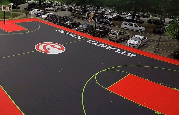 The Hawks Designed A Sweet New Court At Welcome All Park In