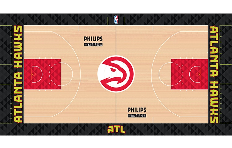 Heres What The New Hawks Court Will Look Like Atlanta