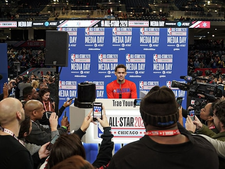 Trae Young Addresses Media at All-Star Saturday Night, All-Star Game Media Day