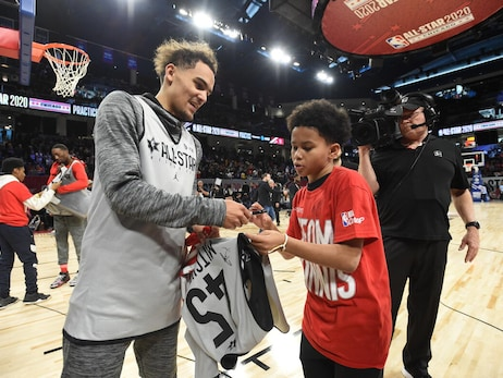 Trae Young Receives January NBA Cares Community Assist Award Presented By Kaiser Permanente