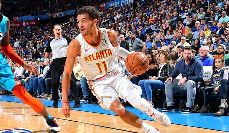 Trae Young Named Kia NBA Eastern Conference Rookie of the Month
