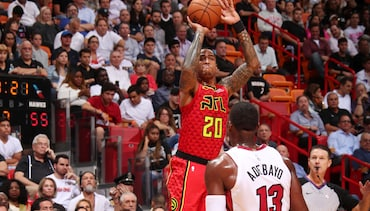 Shorthanded Hawks Fall to Heat on the Road