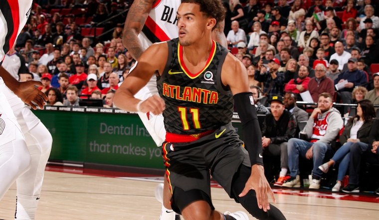Hawks Battle, Fall to Blazers in First Overtime of the Season